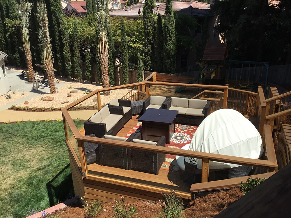 Patio Sun Deck with under deck Storage Room – LIAISON LANDSCAPES